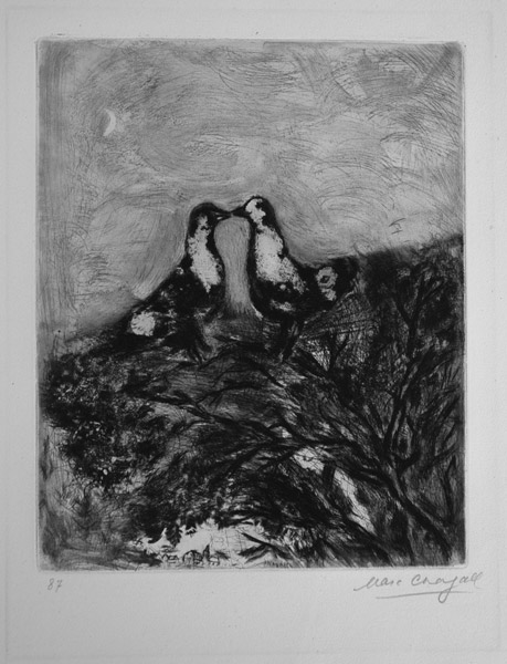 Marc Chagall, Two Doves, from the Fables of La Fontaine