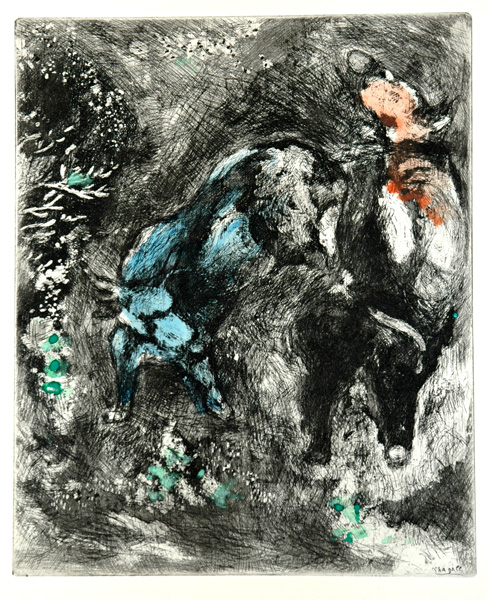 Marc Chagall, Two Bulls, from the Fables of La Fontaine