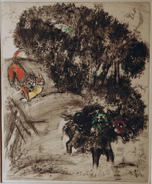 Marc Chagall, Lion, from the Fables of La Fontaine