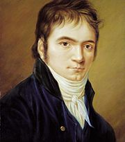 Beethoven in 1803. When Beethoven wrote this letter, he had only completely two symphonies.