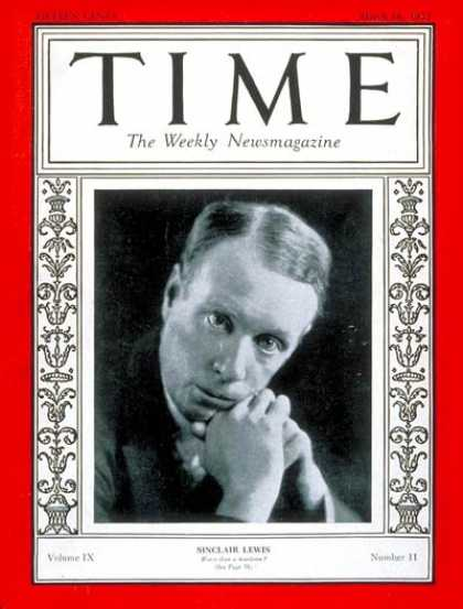 Sinclair Lewis (USA, 1885-1951)