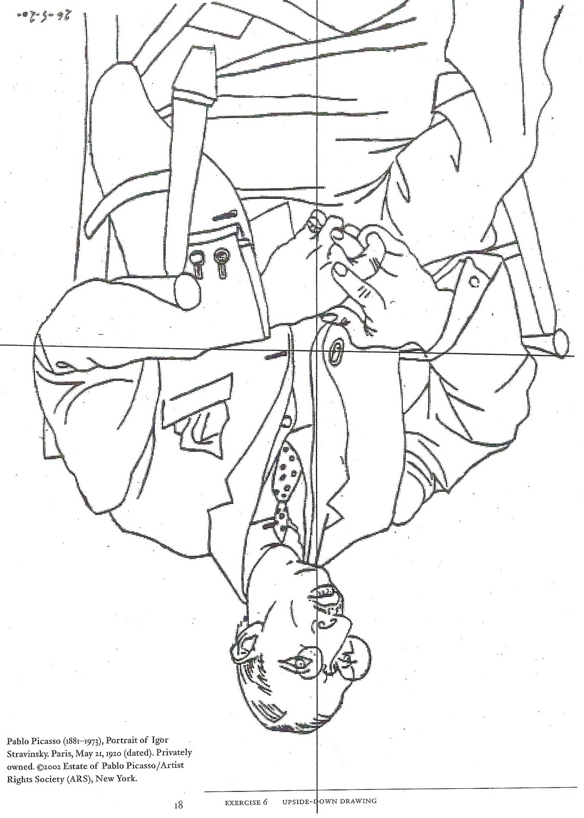Line Drawing Upside Down : Drawing on the right side of brain bluedragonfly